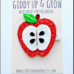 .@giddyupandgrow | New! Glitter Apple Hair Clip! Part of the Fall/Autumn collection! Xoxo #fall ... | Webstagram - the best Instagram viewer