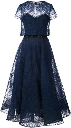 Marchesa Notte tulle layered dress