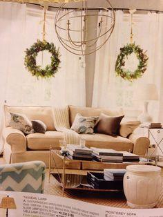 Wreaths on inside of windows