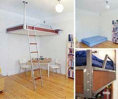camas suspensas para quartos pequenos - Pesquisa Google
