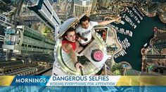 The dangerous and questionable lengths people are going to for the perfect selfie. People around the world have been taking selfies on top of buildings as well as in front of accidents and even in Auschwitz's gas chambers.