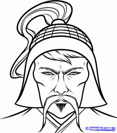 kublai khan was the grandson of genghis khan he was  genghis khan of mongol coloring pages how to draw genghis khan genghis khan