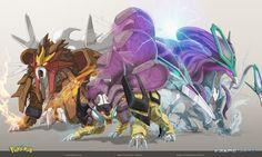 Frame wars is creating hybrid pokemon concept art Entei Pokemon, Mega Pokemon, Pokemon Comics, Pokemon Funny, Cool Pokemon, Pokemon Fusion Art, Pokemon Fan Art, Genos Wallpaper, Pokemon Dragon