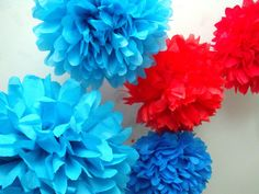 30 Poms .... Pick Your Colors on Etsy, $95.00