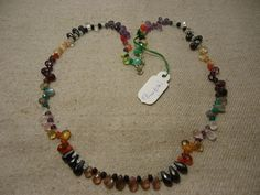 """Natural Multi Stone Multi Shape Faceted 17"""" Beads Fancy Necklace, 107 Cts…"""