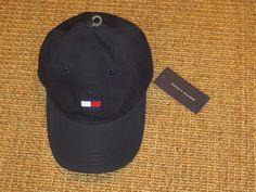 f97ed4525ce58 Tommy hilfiger baseball cap big flag logo navy blue men s sport classic new