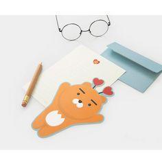 Kakao Friends Character Love Letter Lined writing Paper & Envelope & Sticker Set #KakaoFriends