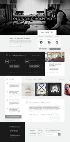 Proximity Hotel Web layout design