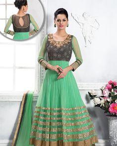Palkhi Inc - Light Green Flary Anarkali Dress (D0314), $205.00 (http://www.palkhi.com/light-green-flary-anarkali-dress-d0314/)