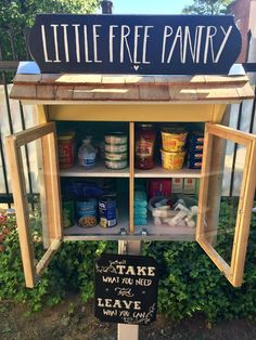 Project Gallery — Little Free Pantry Little Free Library Plans, Little Free Libraries, Little Library, Girl Scout Troop, Girl Scouts, Little Free Pantry, Long Island Railroad, Blessing Bags, Take What You Need