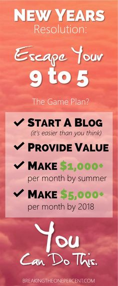 New Years Resolution   Starting a Blog   Entrepreneur Tips   How to Start a Blog   Make Money Blogging   Side Hustle Ideas   New Years Resolution Tips