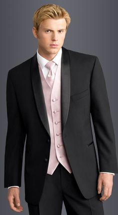 Black Cypress Tuxedo in modern fit,  2-button shawl lapel.  Available at #FriarTux