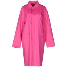Dsquared2 Overcoat (13.945 RUB) ❤ liked on Polyvore featuring outerwear, coats, fuchsia, dsquared2, pink coat, pink overcoat, over coat and single-breasted trench coats