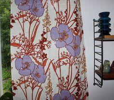 Fantastic vintage retro pair of Curtain by TopNotchScandinavia