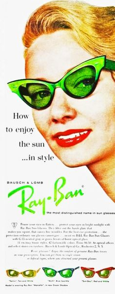 RayBan Ad 1950s www.verandabeach.com