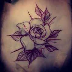 Rose for EJ :) always enjoy tattooing roses #tattoo #rose ...