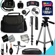 FUJI Camera Ultimate ACCESSORIES Kit for Fuji FINEPIX S9900W S9800 S9400W S9200 S8600 S8500 S8400W S8300 S8200 S6900 S6800 S6700 S4800 S4700 S4600 S4500 S4400 S4300 S2950 XP80 XP70 XT10 XT1 XA2 XA1 X100T X100S X100 XQ2 XQ1 XE2 XE1 XPro1 X30 X20 X10 XM1 XF1 XS1 HS50EXR SL1000 HS35EXR XP70 F800EXR SL300 SL240 F770EXR F600EXR F750EXR HS30EX F600 HS20EXR F500EXR F5500EXR Cameras Includes 32GB High Speed SD Memory Card  Pro Grade 72 inch Tripod  Full size 72 Inch Monopod  Well Padded Camera Case…