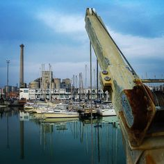 The crane. #port #harbour #harbor #factory #manufactory #rust #sailboat #sailingboat #sea #adriatic #fischer #fisherman #fishingboat #hooker #boat #fishnet #fishingnet #holiday #vacation #travel #senigallia #sinigallia #ancona #italy #canong3 by beflipflop