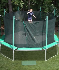 Look at this #zulilyfind! Green Octagon Trampoline Set #zulilyfinds