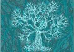family tree to fill print of a digital artwork by SandrineKespi, $55.00