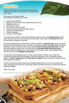Aloha Pizza - this came out very good! http://new.pamperedchef.com/pws ...