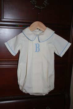 Monogram Bubble for Baby Boy by BradleyJane on Etsy, $48.00