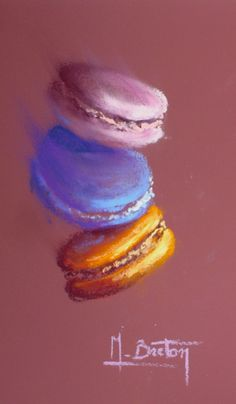 Pastel Art, Paint Ideas, Colouring, Macarons, Oil, Watercolor, Drawings, Painting, Beautiful