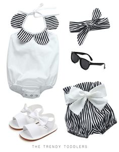 Beautiful 3 PCS set Lovely bowknot ruffle romper Cute striped shorts + matching headband Combination of great style and comfort Baby Girl Tops, Baby Girl Romper, Cute Baby Girl, Baby Girl Newborn, Baby Girls, Baby Baby, Baby Momma, Chic Baby, Dress Girl