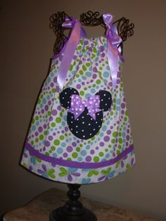Minnie Mouse Pillowcase Dress Purple Polka Dots extra by STLGIRL, $20.00