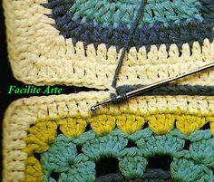 Facilite Sua Arte: Crochê: Como Unir Quadrados (27)