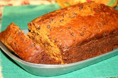 Pumpkin Friendship Bread.... I have made three of these so far this season (without the choc chips) with pecans... I always have friendship bread starters around so if you would like one let me know :) angel