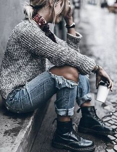 Perfect Leisure Weekend Look -------Sweater and Jeans – loveofqueen