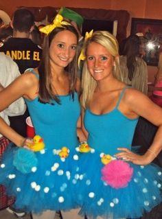 Costume idea-rubber ducky bubble bath...how cute :)