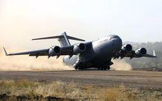 Boeing C-17 Globemaster III taking off Aircraft desktop wallpaper download