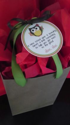 Back to school teacher gift... Who's ready for a new school year? Owl bet you are!