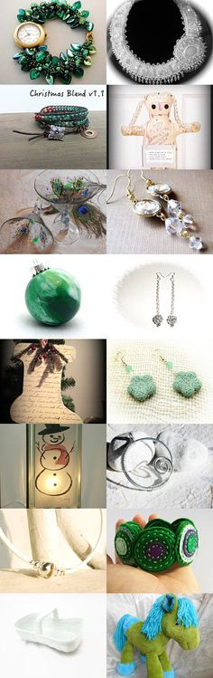 Green is for the Christmas trees... by Chizuko Takahashi on Etsy--Pinned with TreasuryPin.com