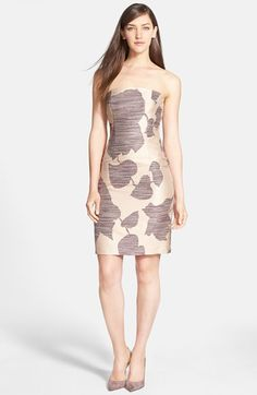 BOSS HUGO BOSS BOSS 'Darona' Strapless Sheath Dress available at #Nordstrom
