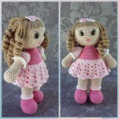 Free Amigurumi Crochet Doll Pattern and Design ideas - Page 8 of 37 - Martha Rodríguez Portocarrero - DiyForYou Crochet Doll Tutorial, Crochet Doll Pattern, Crochet Dolls, Crochet Baby, Single Crochet, Easter Crochet Patterns, Crochet Crafts, Amigurumi For Beginners, Crochet Rabbit
