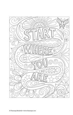 Coloring page from Thaneeya McArdle\'s Good Vibes Coloring Book ...