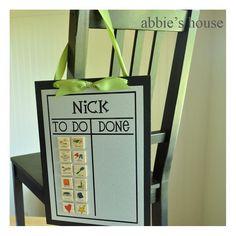 Cute idea for kid's chore chart!