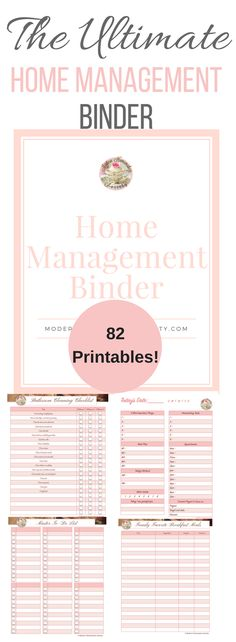 The Ultimate Home Management Binder