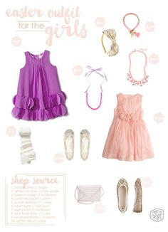 Easter/Spring style guide: Easter Outfits for the Girls www.momsbestnetwork.com