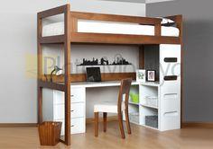 New Bedroom Desk Kids Loft Beds 15 Ideas Bedroom Desk, Bedroom Loft, Home Bedroom, Kids Bedroom, Bedrooms, Bed Design, Design Case, House Design, Cool Loft Beds