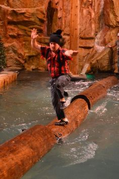 The Lumberjack Feud in Pigeon Forge, TN. A new twist on dinner shows, this is lots of fun for all ages. Not to mention these lumberjacks and jills are really talented.