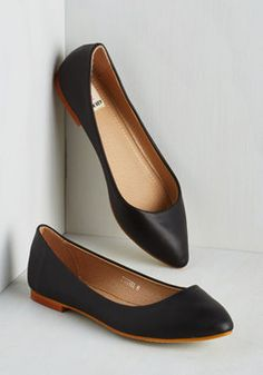 """Defined the Scenes Flat in Licorice. You give new meaning to the word """"character"""" when you wear these savvy, vegan faux-suede flats! #black #modcloth"""