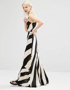 Image 1 - Cheap Monday - Maxi robe rayée effet nageur