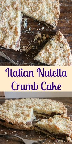 Italian Nutella Crumb Cake, easy delicious crumb cake recipe, filled with everyones favourite, Nutella. Perfect anytime, for kids and adults. |anitalianinmyktichen.com