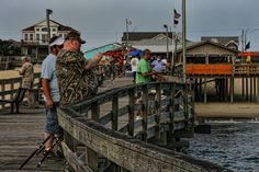 Artists Choice Category. Fishing on the Outer Banks Fishing Pier. Bob Rush.jpg
