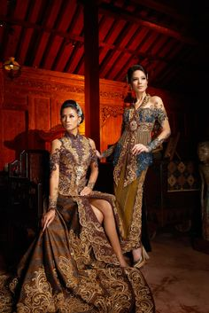 Wedding Dresses Modern Elegant Magazines Ideas For 2019 Kebaya Dress, Batik Kebaya, Batik Dress, Indonesian Kebaya, Indonesian Wedding, Model Kebaya Modern, Batik Fashion, Instyle Magazine, Baroque Fashion