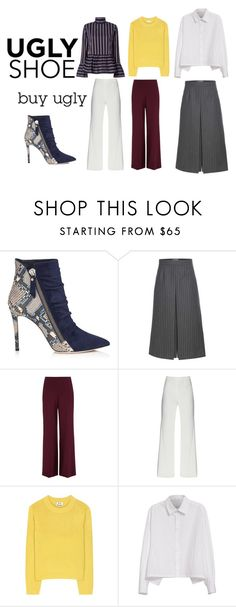 """#327"" by blackwidow3 on Polyvore featuring moda, Yves Saint Laurent, Acne Studios, Y's by Yohji Yamamoto, Le Sarte Pettegole i uglyshoes"